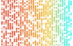 De abstracte kleurrijke achtergrond van het puntenpatroon op wit stock fotografie