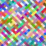 De abstracte kleurrijke achtergrond van het vierkantenontwerp Royalty-vrije Stock Afbeeldingen