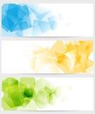 De abstracte kleurrijke banners van technologie Royalty-vrije Stock Foto's