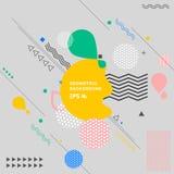 De abstracte kleurrijke geometrische decoratieve achtergrond van de elementensamenstelling stock illustratie