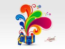 De abstracte kleurrijke magische doos explodeert vectorillustratie royalty-vrije illustratie