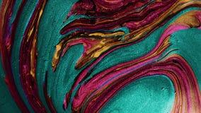 De abstracte kleurrijke psychedelische beweging van de verf vloeibare verspreiding stock videobeelden