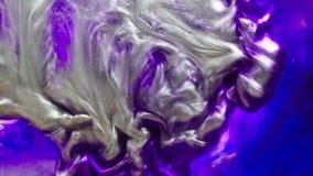 De abstracte kleurrijke psychedelische beweging van de verf vloeibare verspreiding stock video