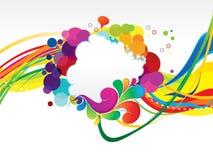 De abstracte kleurrijke regenboog explodeert achtergrond stock illustratie