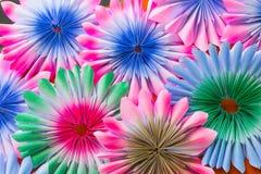 De abstracte Kleurrijke regenboog nam bloemdocument achtergrond toe Stock Foto's