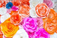 De abstracte Kleurrijke regenboog nam bloemdocument achtergrond toe Royalty-vrije Stock Foto