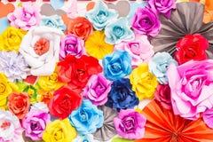 De abstracte Kleurrijke regenboog nam bloemdocument achtergrond toe Stock Afbeelding