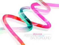 De abstracte kleurrijke scène van het lijnenontwerp Stock Foto's