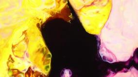 De abstracte Kleurrijke Trillende Wervelende Textuur van de de Verfontploffing van de Kleurenexplosie stock video