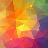 De abstracte kleurrijke vectorachtergrond van het driehoekenijs Stock Foto's
