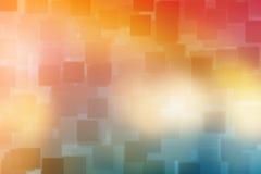 De abstracte kleurrijke vierkante achtergrond van de bokehtextuur Stock Afbeelding