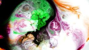 De abstracte Kleurrijke Vloeistof van de Verfinkt explodeert de Ontploffingsbeweging van Verspreidingspshychedelic stock video