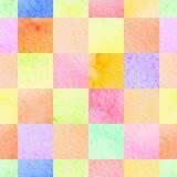 De abstracte kleurrijke waterverf regelt achtergrond Stock Fotografie