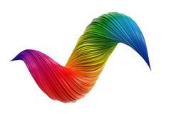 De abstracte kleurrijke werveling van de gradiënt 3D verf stock illustratie