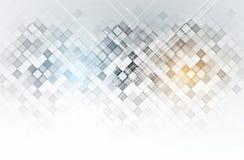 De abstracte kopbal van de technologie digitale website De achtergrond van de banner Stock Foto