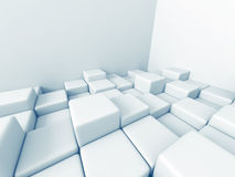 De abstracte Kubus blokkeert Architectuurachtergrond Royalty-vrije Stock Fotografie