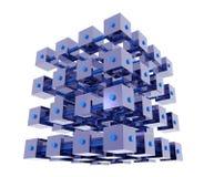 De abstracte Kubussen van Gegevens Stock Afbeeldingen