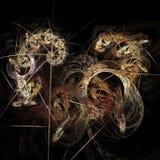 De abstracte kunstmatige computer produceerde herhaald vlamfractal kunstbeeld Royalty-vrije Stock Fotografie