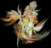 De abstracte kunstmatige computer produceerde herhaald vlamfractal kunstbeeld Stock Foto