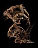 De abstracte kunstmatige computer produceerde herhaald vlamfractal kunstbeeld van een schaakpaard Stock Afbeeldingen