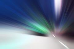 De abstracte lichte motie van de versnellingssnelheid Stock Afbeelding