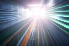 De abstracte lichte motie van de versnellingssnelheid Stock Foto