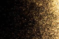De abstracte lichte verlichting van waterbellen Stock Fotografie
