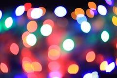 de abstracte lichten van bokehkerstmis Stock Foto