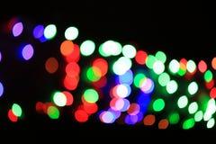 de abstracte lichten van bokehkerstmis Stock Foto's