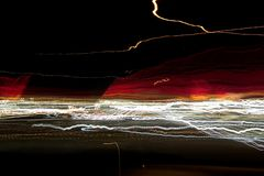 De abstracte Lichten van de Nacht Stock Afbeelding
