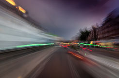 De abstracte lichten van de nachtstad royalty-vrije stock afbeeldingen