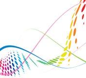 De abstracte lijn van de regenbooggolf Stock Afbeeldingen