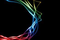 De abstracte lijnen van de kleur Stock Afbeelding