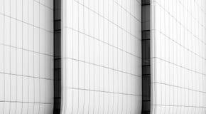 De abstracte lijnen van het bouwpaneel in architectuur stock afbeelding