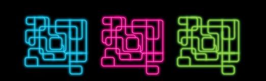 De abstracte lijnen van het neon Stock Afbeelding