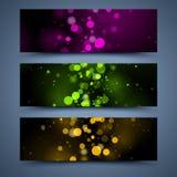 De abstracte malplaatjes van kleurenbanners stock illustratie