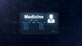 De abstracte medische kaart met hoofd schoot en teken van harttarief, druk en een andere diagrammen Verschijning van royalty-vrije illustratie