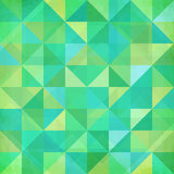 De abstracte meetkunde trianglesgreen patroon Stock Afbeelding