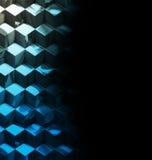 De abstracte metaalachtergrond van de kubussentechnologie Stock Foto