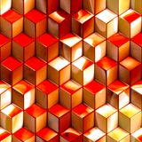 De abstracte metaalachtergrond van de kubussentechnologie Stock Afbeelding