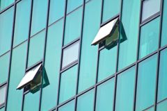 De abstracte moderne bouw Royalty-vrije Stock Foto's