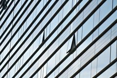 De abstracte moderne bouw Stock Foto