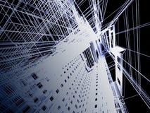 De abstracte moderne bouw vector illustratie