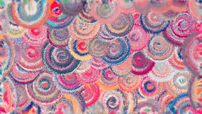 De abstracte Moderne kunstcirkels wervelen kleurrijk patroon Royalty-vrije Stock Foto's