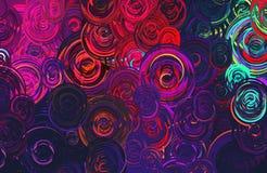 De abstracte Moderne kunstcirkels wervelen kleurrijk patroon Royalty-vrije Stock Afbeeldingen