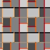 De abstracte moderne textuur van het vierkanten naadloze patroon op retro backgr Stock Afbeeldingen