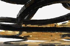 De abstracte moderne toekomstige architectuur bevat vreemd-gevormde gebouwen in de vorm van naar omhoog geleide spiralen facade vector illustratie