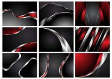 De abstracte modieuze achtergronden van de Inzameling vector illustratie