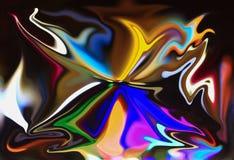 De abstracte mooie lijn van het achtergrondkleurenpatroon Stock Afbeeldingen