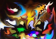 De abstracte mooie lijn van het achtergrondkleurenpatroon Royalty-vrije Stock Afbeeldingen